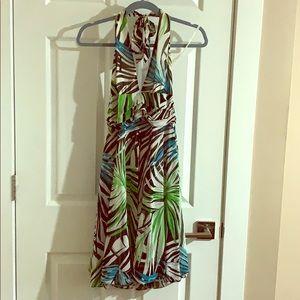 Halter printed dress.
